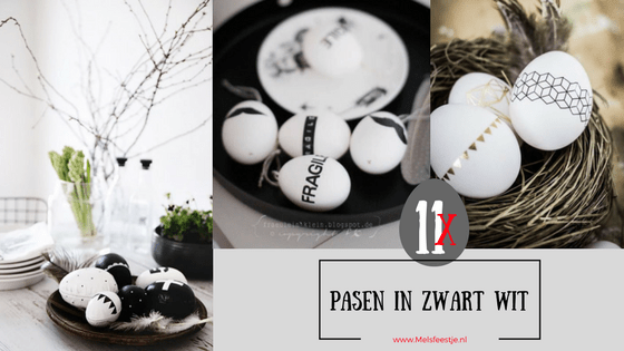 🥚 11x Pasen in zwart wit 🥚