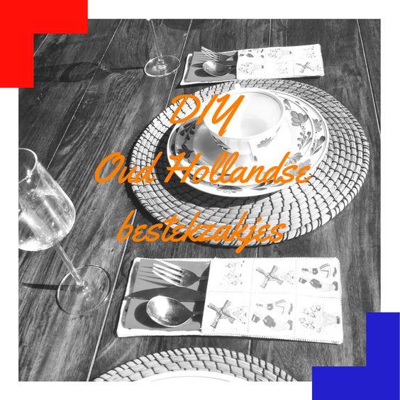 """""""DIY Oud Hollands bestekzakje - uit mams crea studio - voor Koningsdag - Mels Feestje -"""""""