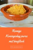 """Verrukkelijk Koningsdag recept romige koningsdag puree met zoete aardappel en knoflook - Mels feestje"""