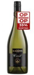 """Voor Moederdag bij de BBQ (kip met camembert) de Hardys Crest Chardonnay Sauvignon Blanc"""""""