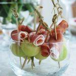 """Tuinfeest - Fruit hapjes Meloen met hammetje - Zomer hapje - mels Feestje"""""""