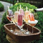Waterijsjes met Prosecco voor op je tuinfeest. Ziet het er nit grandioos uit! Zo simpel en zo lekker en prachtig. Mels Feestje & Tuinfeest hapjes en drankjes