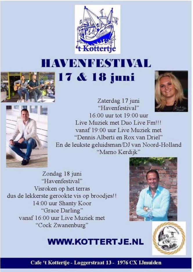"Programma het kottertje - havenfestival IJmuiden - vaderdag havenfestival IJmuiden - mels feestje en feestdagen"""
