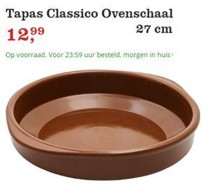 """Tapas Schaal, de Classico! Dit is een grote Tapas Schaal van 27 cm. Je kan hem ook voor ovengerechten gebruiken. Het is een mooie schaal om Spaanse Salades in te serveren. """""""