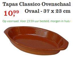 """Tapas Schaal Ovaal. een prachtige Spaanse Ovenschaal om je tapas in te serveren. Ook andere gerechten staan er mooi in. """""""
