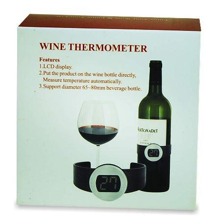 Wijnthermometer. Te leuk cadeau voor een wijnliefhebber. met een wijnkleder. leuke prijs voor het dobbelspel