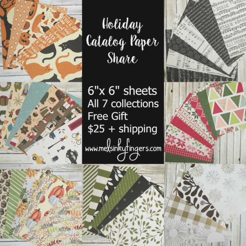 Stampin' Up! Holiday Catalog Paper Share from Mel's Inky Fingers