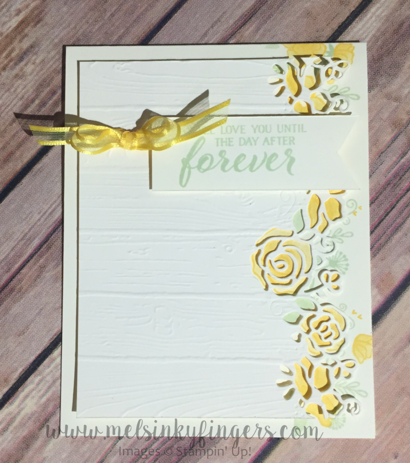 Forever Lovely Sympathy Card using the Forever Lovely stamp set and Lovely Flowers Edgelits Dies