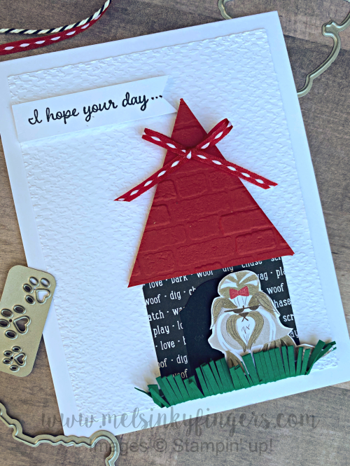 Playful pets dog house card featuring the Playful Pets Product Suite