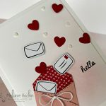 Hello card featuring Snailed It Bundle from the Snail Mail Suite Collection. Maui Achievers February 2021 Blog Hop and Simple Suite Stampers February 2021 Tutorial project. Card idea by Melanie Hockin of Mel