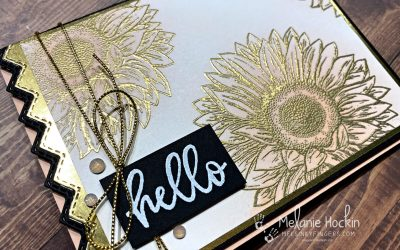 Color Fusers July 2021 Blog Hop Hello Sunflower and Heat Embossing