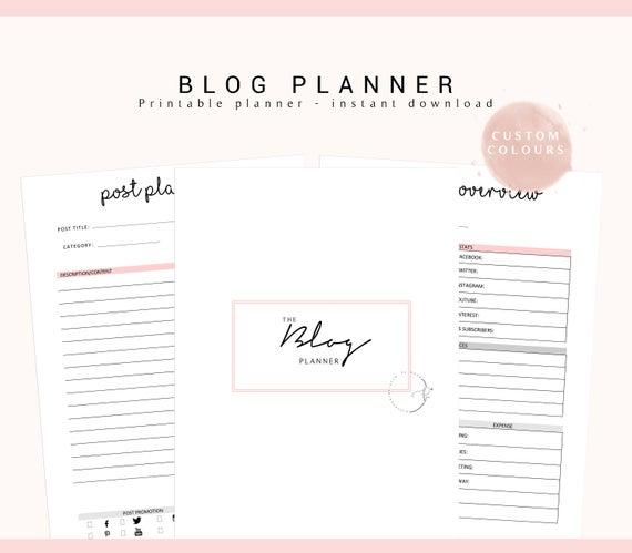 blog planner kit