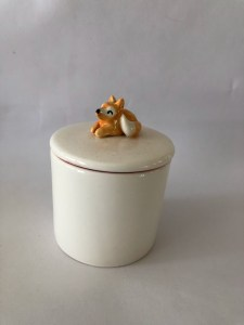 fox jewelry jar