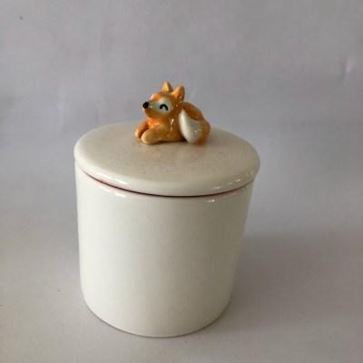 fox jewelry jar