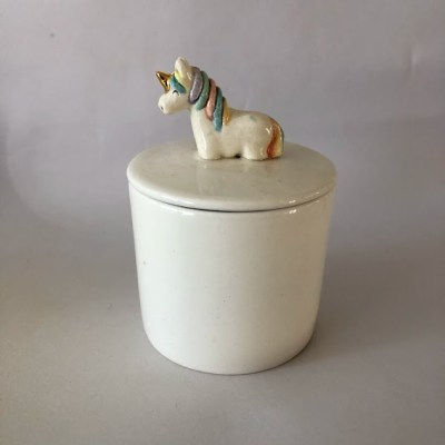 unicorn jewelry jar