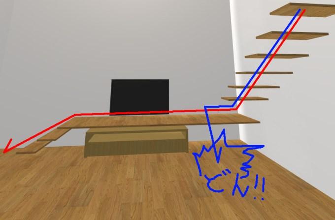 テレビを置いたイメージ