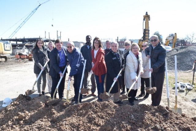 North Little Rock A & P Commission and staff at the groundbreaking of 600 Main building in March 2019.