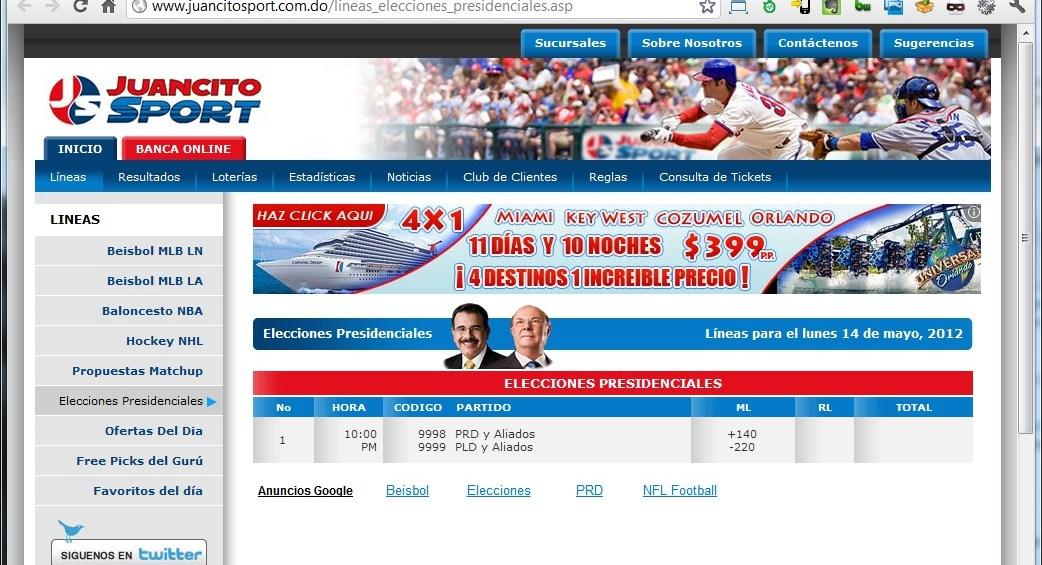 Juancito Sport | Líneas Elecciones Presidenciales