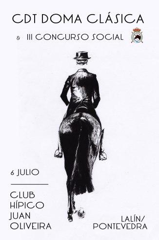 Cartel realizado para el I Concurso Territorial Club Hípico Juan Oliveira.Lalín.Pontevedra