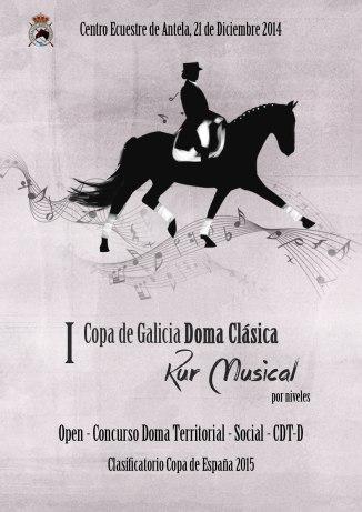 Cartel realizado para la I Copa de Galicia de DOma Clasica y Kur musical