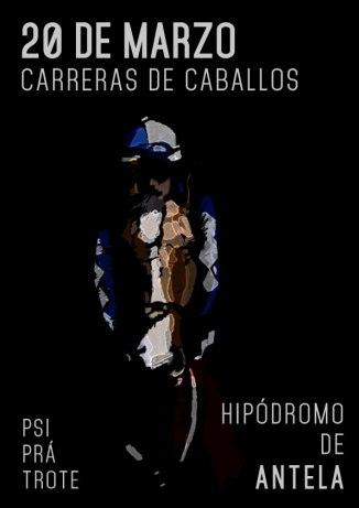 1er Cartel publicitario de la temporada de Carreras de Caballos a celebrarse en el Hipódromo de Antela Xinzo de Limia-Ouense