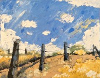 "Melwell Romancito, ""Callejon,"" oil on canvas, 8x10"