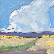 """The Last Thunderstorm of the Season,"" Melwell Romancito, oil on panel, 8x8"