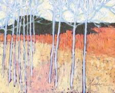 """Aspen Meadow II,"" oil on panel by Melwell Romancito, 8x10"