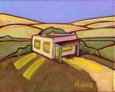 """Mi Casita,"" oil on canvas by Melwell Romancito, 8x10"