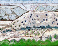 """""""Near Velarde,"""" oil on canvas panel by Melwell, 8x10"""