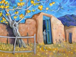 """""""Check the Back Gate,"""" oil on canvas by Melwell, 11x14"""