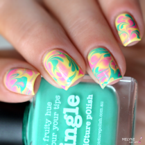 Dry marble nail art Picture Polish 4