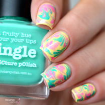 Dry marble nail art Picture Polish 5