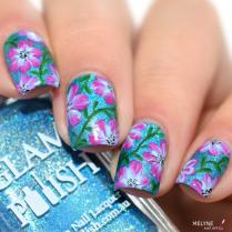 Sans titreNail art fleurs faciles zoom Glam polish 3