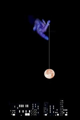 Perhaps the moon is just suspended above us on a string...