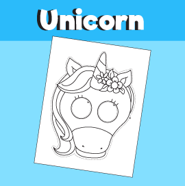 Unicorn Paper Mask 10 Minutes Of Quality Time