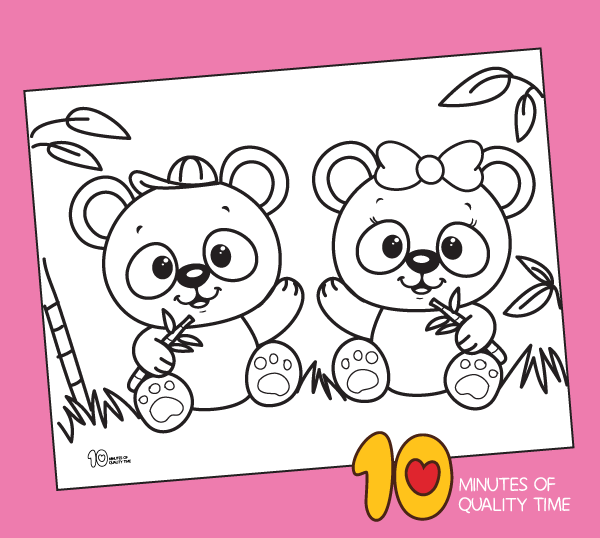 Cute Panda Coloring Page 10 Minutes Of Quality Time