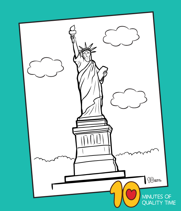 Statue Of Liberty Coloring Page 10 Minutes Of Quality Time