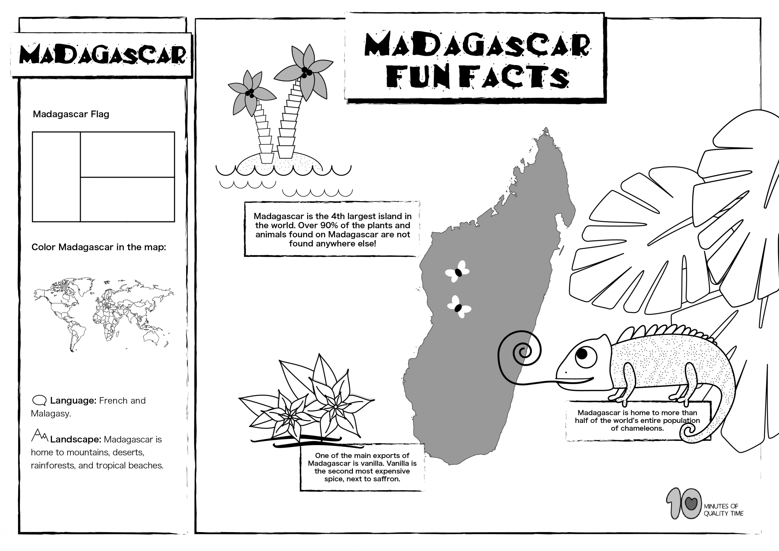 Madagascar Free Lesson Plan And Worksheets 10 Minutes