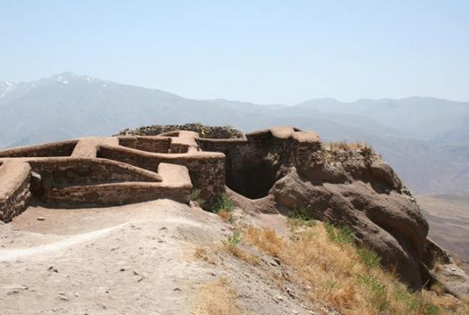 Alamut fortification in Iran and Ismailites Assassins stronghold.