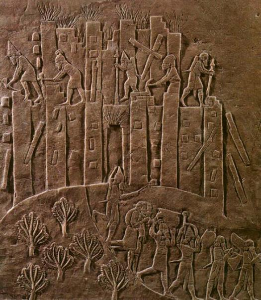 Assyria's (under Ashurbanipal) brutal campaign against Elam in 647 BC is recorded in this relief.