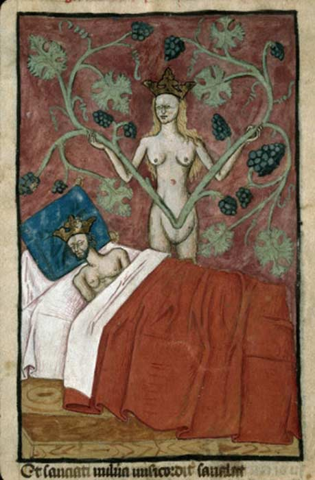 Astyages's dream (France, 15th century).