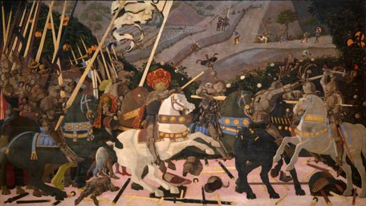 Battle between condottieri.