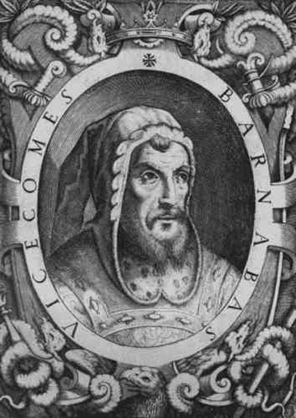 Bernabò Visconti, lord of Milan.