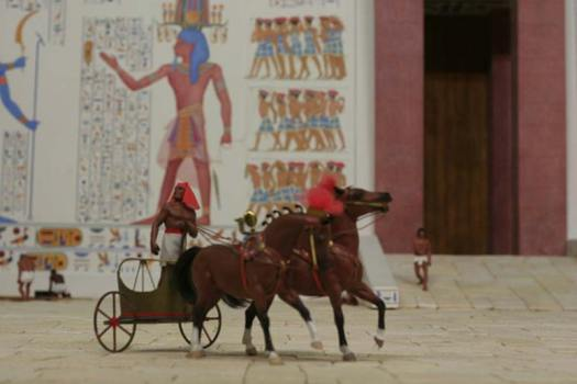 Diorama of Egyptian in Chariot, Crossroads of Civilization exhibit