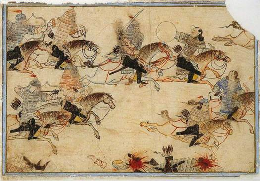 The Mongols at war.