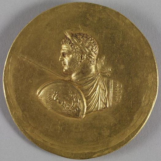 Medallion with Roman Emperor Caracalla, circa 215 and circa 243 (Imperial Roman).