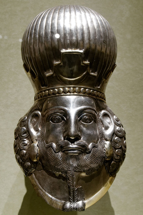 Bust of a Sasanian king, most likely Shapur II (309 to 379 CE) Representative image.