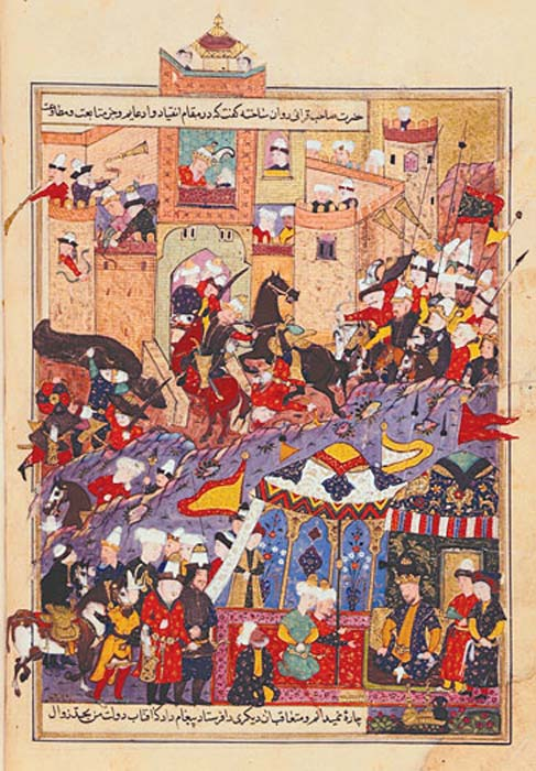 Timur receives envoys during an attack on Balkh (Afghanistan) in 1370. Representational image.