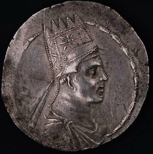 The coin of Artavasdes II, King of Media Atropatene.